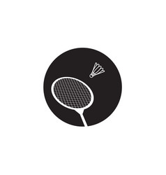 racket badminton icon design template isolated vector image