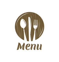 Restaurant menu logo or label cooking cuisine vector
