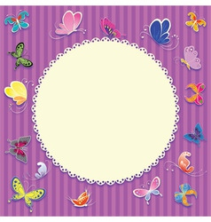 Retro greeting card background vector