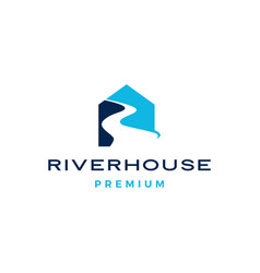 river house logo icon vector image