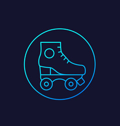roller skates icon line vector image