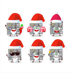 Santa claus emoticons with among us task machine vector