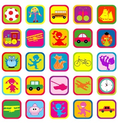 Seamless background with toys for kids vector image
