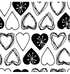 seamless scandinavian pattern for valentine day vector image