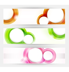 set of abstract modern banner vector image