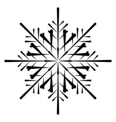 snowflake silhouette vector image
