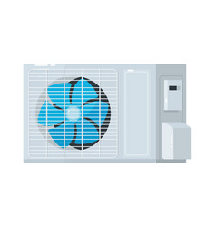 Split system air conditioner outdoor unit isolated vector