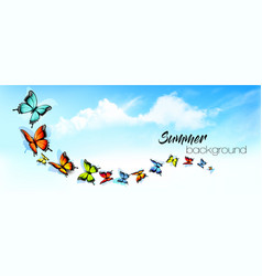 summer abstract nature background with a colorful vector image