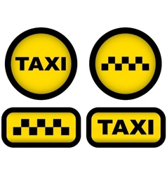 Taxi signs set vector