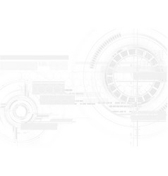 Technological white texture hud display vector