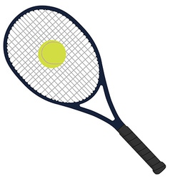 Tennis racket with tennis ball vector image