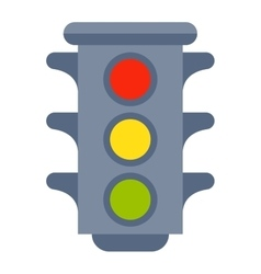 Traffic light isolated vector image