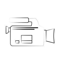 videocamera cinema icon image vector image