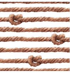 Watercolor rope fishing net pattern vector