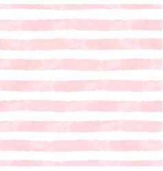 Watercolor stripes pink and white seamless vector