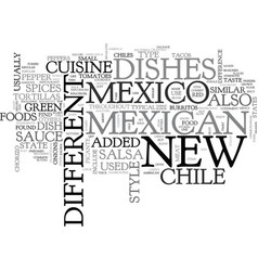 What is new mexico cuisine text word cloud concept vector