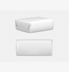 Wrapped parcel package box top and side view icon vector