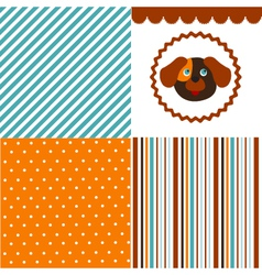 Baby pattern set vector image vector image