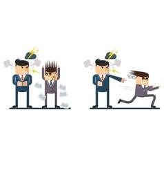 Businessman chief berates subordinate vector