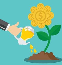 Financial growth form idea concept vector image