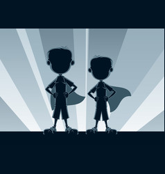 super boys silhouettes vector image vector image