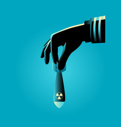 hand ready to drops an atomic or nuclear bomb vector image vector image
