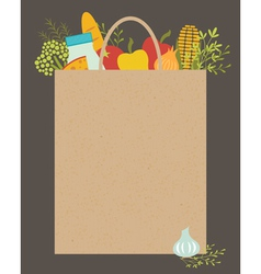 Grocery bag vector image vector image
