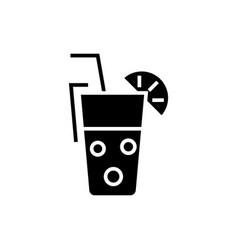 juice glass - drinks icon vector image