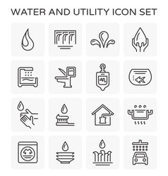 line icon of water usage and utility vector image