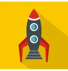 Rocket icon flat style vector image