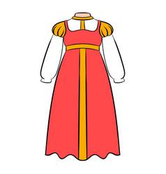 Russian national sarafan icon cartoon vector