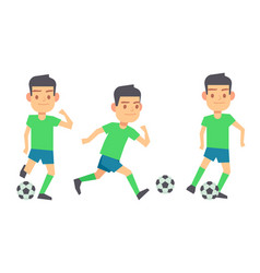 soccer players with balls set isolated vector image vector image