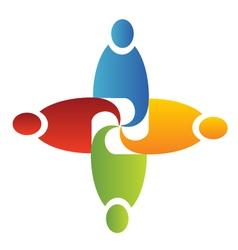 Teamwork unity logo vector image