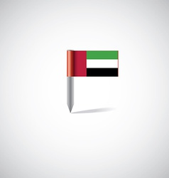 UAE flag pin vector image
