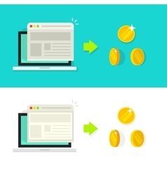 Website conversion rate vector