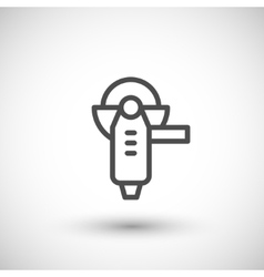 Angle grinder line icon vector image
