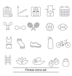 fitness icons set fitness icons set vector image