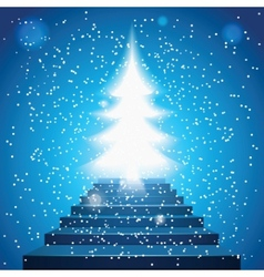 stairway to christmas vector image vector image