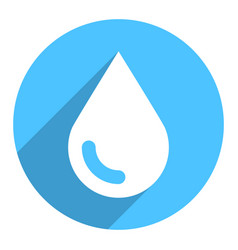 white water drop sign circle icon vector image vector image