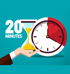 20 twenty minutes time symbol time countdown icon vector image