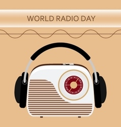 a radio for World Radio Day vector image