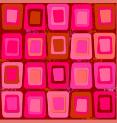 abstract texture of square shapes in sixties style vector image