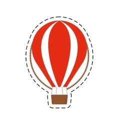 Airballoon recreation vacation travel cut line vector