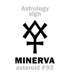 Astrology asteroid minerva vector