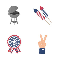 Barbecue salute voting ebblema victory the vector