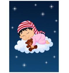 Basleeping on cloud vector