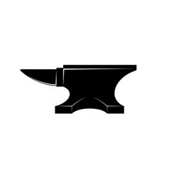 Black iron anvil icon isolated on white background vector