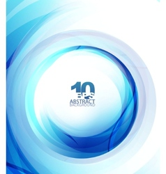 Blue wave abstract circle vector