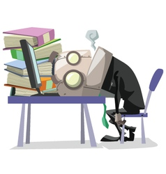 businessRobot over work vector image