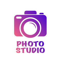 camera icon in trendy flat style isolated on white vector image